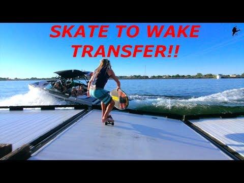 AUSTIN KEEN Skateboard to Wakesurf Transfer! Do Not Try At Home!!