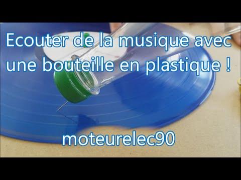 Réalisez un gramophone avec bouteille plastique ou papier, expérience maison Tuto !