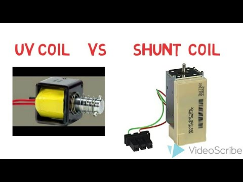 Difference between UV coil and shunt coil /Under-Voltage Release/Shunt trip Release