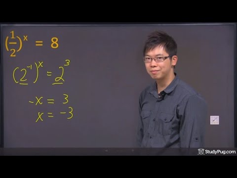 ʕ•ᴥ•ʔ Solve Exponential Equations using the Exponent Laws