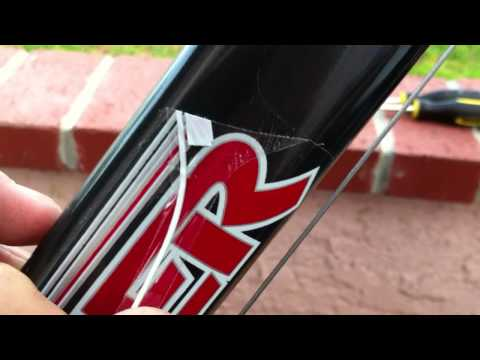 How to Remove Bicycle Stickers/Decals Cleanly