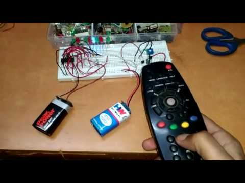 how to make electrical circuit control by a tv remote.........