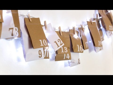 DIY Upcycled Advent Calendar // Christmas Crafts | Curly Made