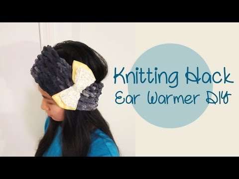 Knitting Hack - Ear Warmer Headband DIY | Sunny DIY
