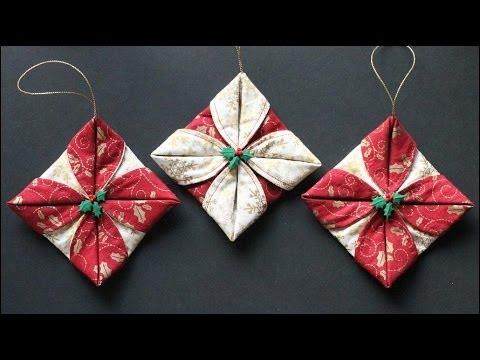 Folded Fabric Ornaments
