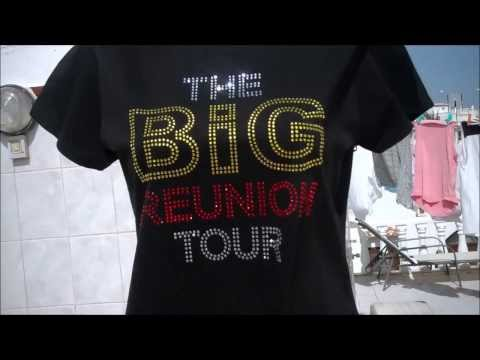 THE BIG REUNION TOUR T SHIRT  FOR SALE ON EBAY LATEST DESIGN BEAUTIFULL BLING TSHIRT