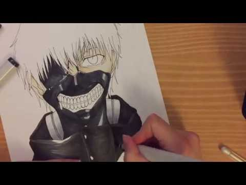 How to draw KANEKI KEN (Tokyo ghoul) - part two