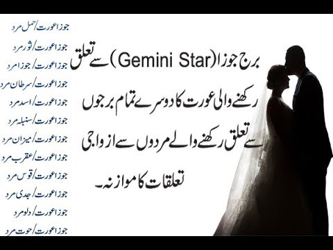 Gemini women (جوزا عورت) Marriage And Love Compatibility With Men Related From Others Stars Urdu