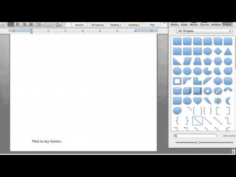 How to Change the Color of the Bar in a Footer in Microsoft Word : Microsoft Word Tutorials