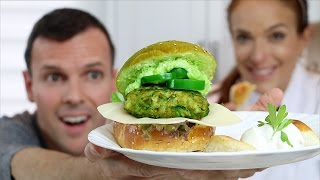THE ULTIMATE GREEN BURGER!