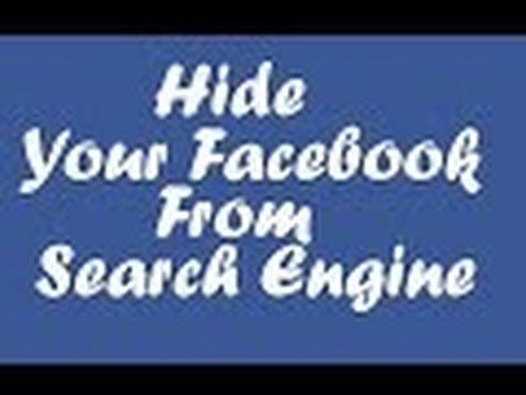 how to hide facebook profile from search engines than facebook / hide from search engine