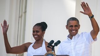 Michelle Obama Shares Sweet Throwback With Barack Sasha and Malia on Father