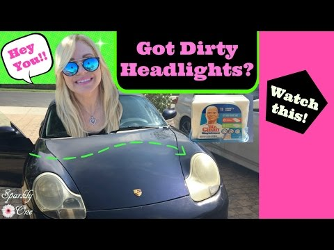 How to Clean Dirty Headlights ❥❥❥ Mr Clean Magic Eraser