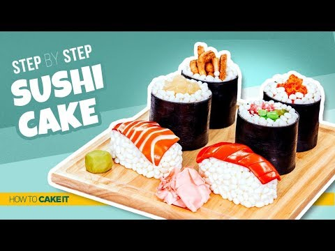 How To Make Sushi CAKES | Step By Step | How To Cake It | Yolanda Gampp