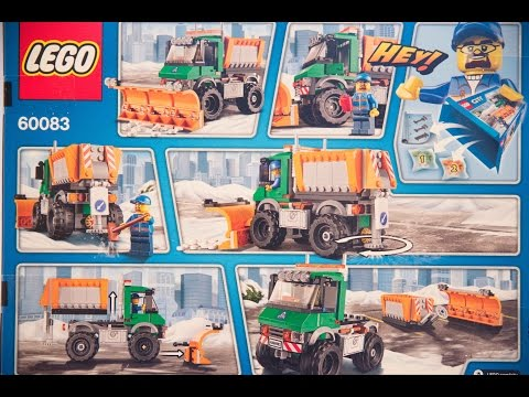 Lego Snowplow Truck - Lego Set 60083 Unboxing, Review - Time Lapse - Review