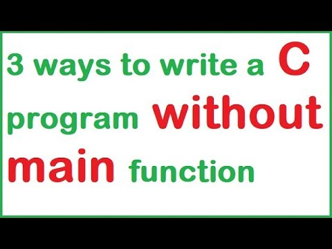 3 ways to write a C program without main function in hindi by programming desire