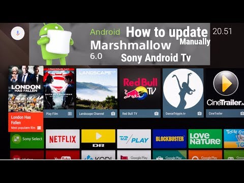 How to update Sony Android TV 55W800C manually // New version Android marshmallow 6.0