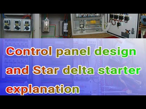 control circuit designing and star delta starter explanation ,animation ,interlocking ,common power