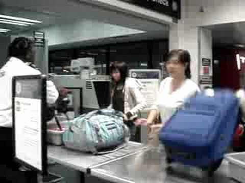 Missy Going Through Security Check