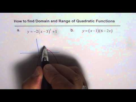 Domain and Range of Quadratic Function from Equations