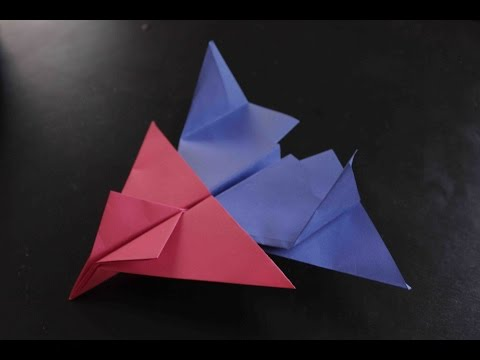How to make a cool paper plane origami: instruction| Double