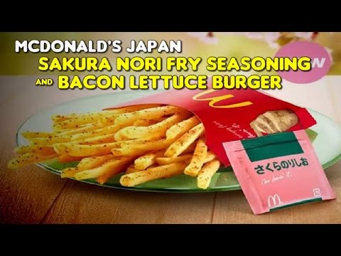 McDonald's Japan: Sakura Nori Fry Seasoning & Bacon Lettuce Burger