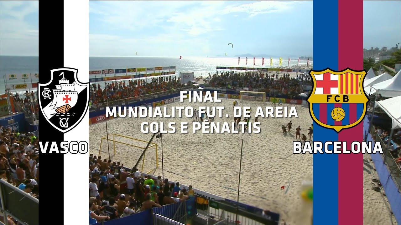Gols e Pênaltis - Vasco 4 x 4 Barcelona - Mundialito de Futebol de Areia - 13/12/2015