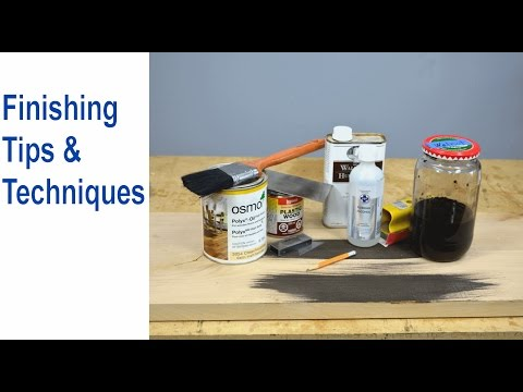 Furniture Finish & Wood Finishing Tips and Techniques