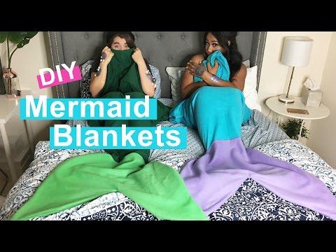 WHATDAYMADE DIY: No Sew Mermaid Blanket + Scales