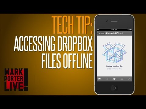 How to Favorite Files in Dropbox for Offline Access