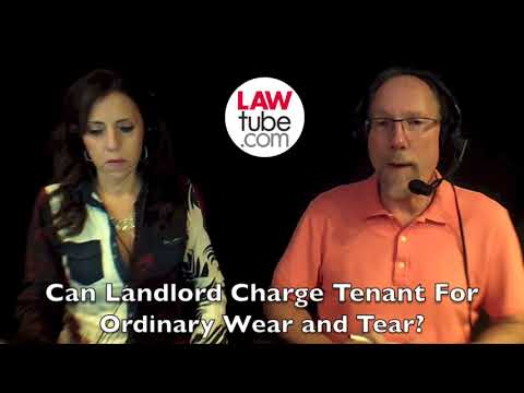 Can landlord charge tenant for ordinary wear and tear?