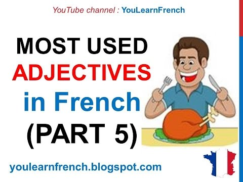 French Lesson 245 - 100 Most common ADJECTIVES in French PART 5 Must know Most used basic words