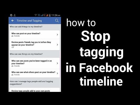 How to Stop tagging in Facebook timeline