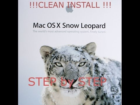 How to do a clean install of Snow Leopard on Mac