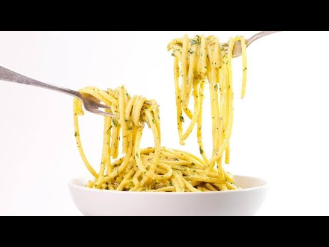 Rachael's Bucatini Carbonara with Leeks, Lemon and Green Garlic