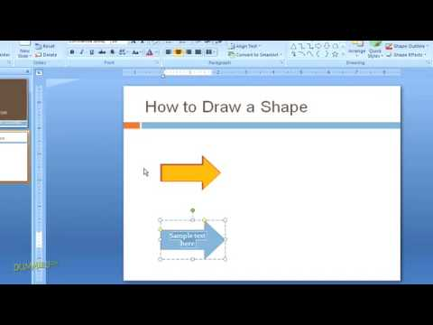 How to Create Graphics with Shapes for Your PowerPoint Presentation For Dummies