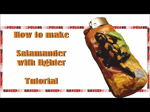 How to make - Salamander lighter - Polymer clay - Fimo - Tutorial