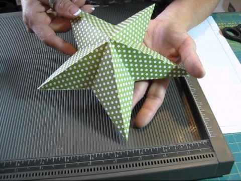 5 point star with one square paper www.frenchiestamps.com
