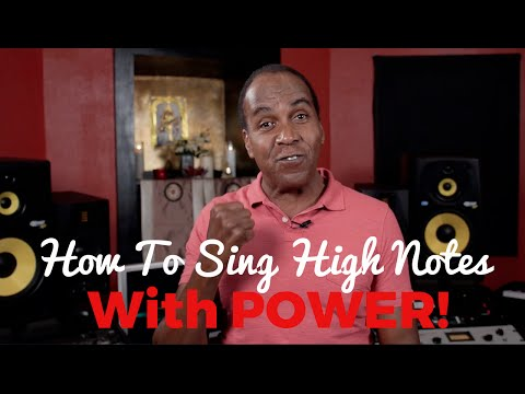 How To Sing High Notes With POWER!