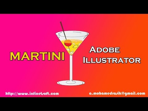 Step by Step video tutorial on How to Draw a Martini