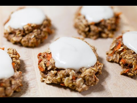 Carrot Cake Oatmeal Cookies with Cashew Frosting