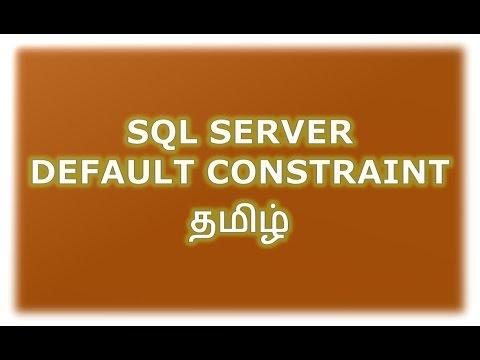 SQL Server Default Constraint Tamil