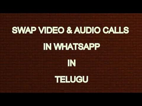 WhatsApp New Option!!AUDIO AND VIDEO CALL SWAPPING!!TELUGU EXPLAINED!!