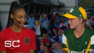 Mo'ne Davis gives advice to Maddy Freking, the first girl to play in LLWS since 2014 | SportsCenter
