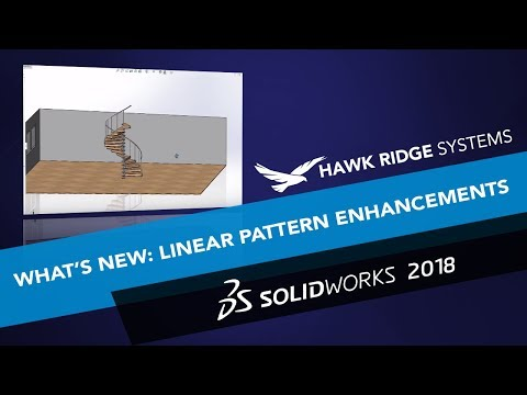 Whats New SOLIDWORKS 2018: Linear Pattern Enhancements
