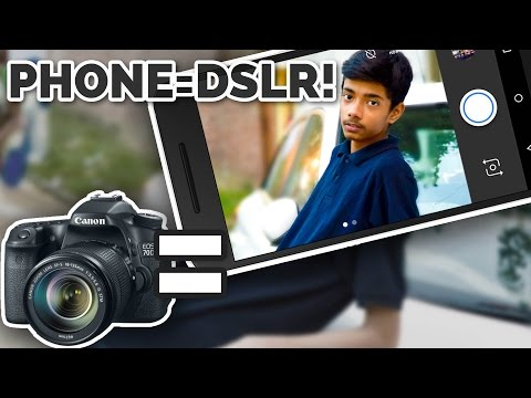 MAKE YOUR PHONE A DSLR!! - SHARP PHOTO & BLURRED BACKGROUND!!