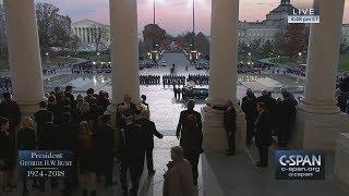 President George H.W. Bush's casket arrives at the U.S. Capitol (C-SPAN)