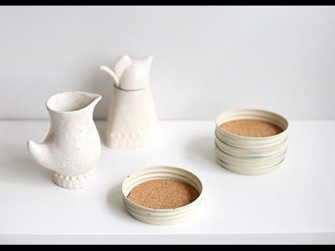 DIY Mason Jar Cork Coasters