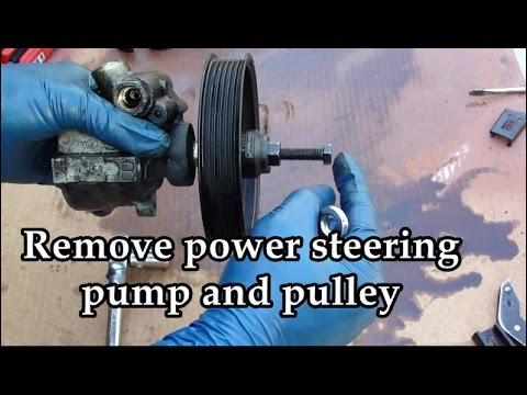 Learn how to change your power steering pump and pulley - Improve your steering & gain control back