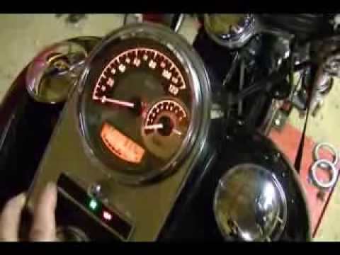 How to Remove & Replace the Speedometer on a 2009 Harley Davidson Softail Custom 70900070A